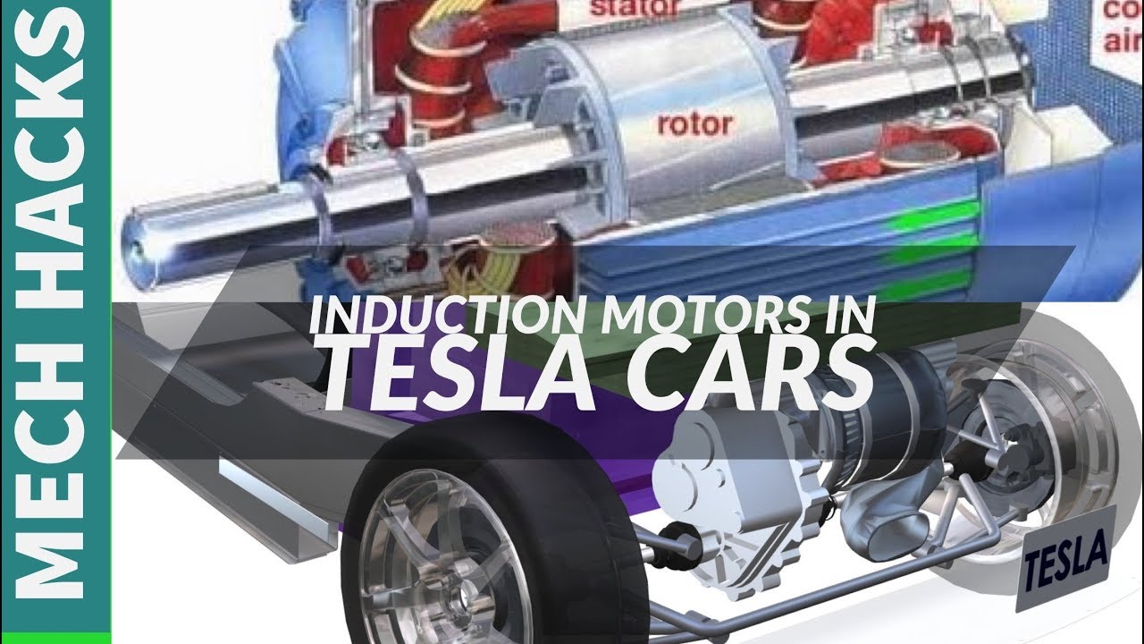 Tesla car induction motor
