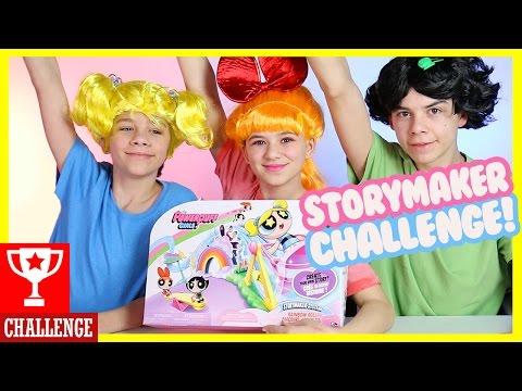 POWERPUFF GIRLS CHALLENGE! Storymaker System Superheroes Blossom,Buttercup,Bubbles! |  KITTIESMAMA