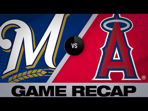 Angels plate late runs to outlast Brewers - 4/9/19