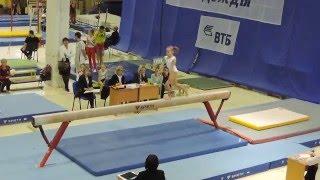 Олимпийские надежды 2015. 1 разряд. Бревно. Листунова Вика. 13,733.  2 место