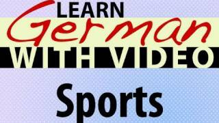 Learn German with Video - Sports