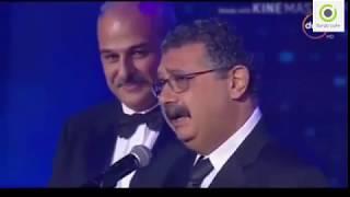 ماجد الكدواني يبكي الحضور خلال استلامه جائزه افضل فنان في مهرجان السنيماء 2017 HD