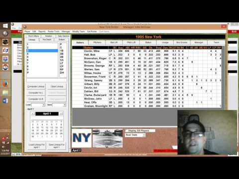 UPDATE:  Action! PC Baseball 1905 MLB Replay Featuring the NY Giants and Ty Cobb