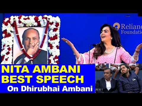 Nita Ambani BEST Speech on Dhirubhai Ambani and Reliance Mukesh Ambani