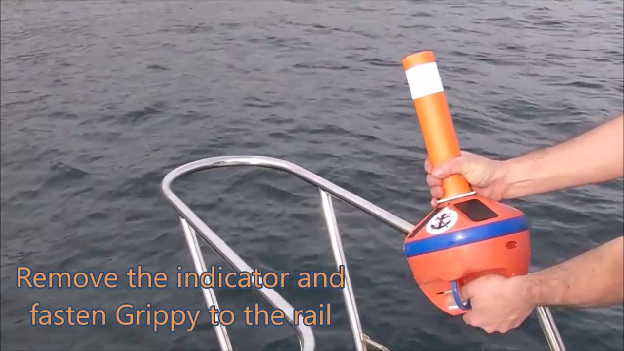 Light and compact Anchor buoy, its self adjustable rope in ...