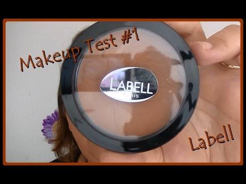 Makeup Test #1 ... La marque Labell ...