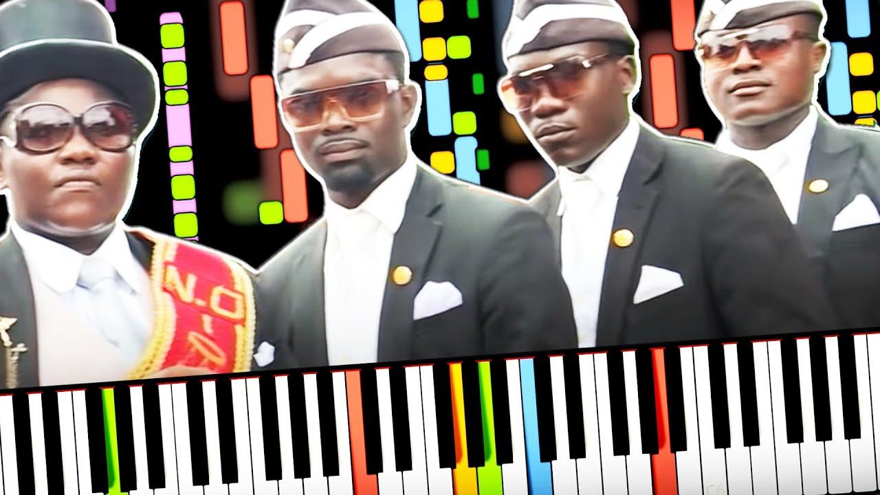 Astronomia Coffin Dance Song Piano Sheet Hot Piano Sheet