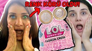 ANNEM RENK KÖRÜ OLDU! Yazı Tura LOL Kombin Challenge Lol Sürpriz Fashion Crush 👗Bidünya Oyuncak 🦄