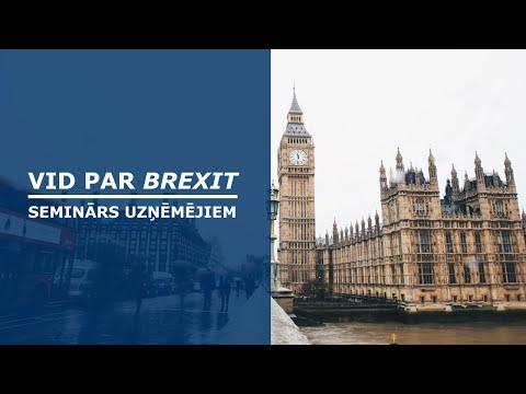 VID par Brexit: kā sagatavoties darījumiem ar Apvienoto Karalisti