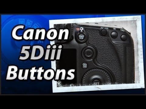 Canon 5Diii - External Buttons - Training Tutorial Manual Video