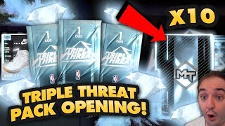 NBA 2K19 My Team HUGE TRIPLE THREAT DIAMOND PACK OPENING! 10+ DIAMOND PACKS!!!