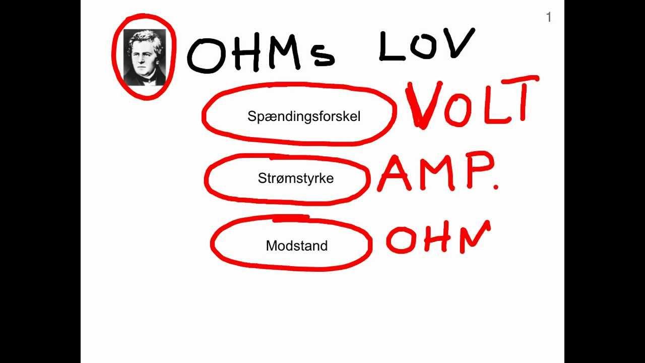 Ohm's lov - Forklaring og anvendelse - af Joe El