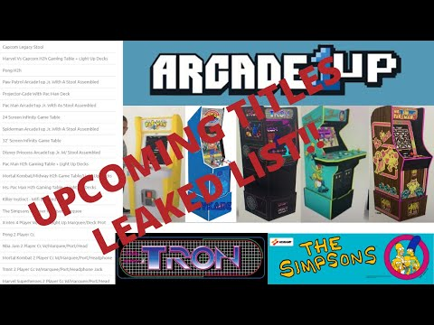 Arcade1up: Upcoming Leaked List! Tron, Simpsons and more! from PsykoGamer