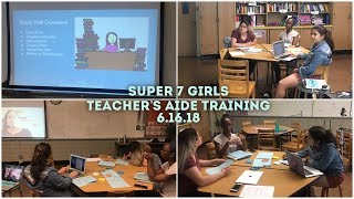 Teacher's Aide Training: Data Informed Instruction