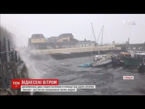 ТСН: Сотні тисяч осель в Ірландії лишились без світла через руйнівний шторм