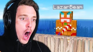 Fighting The LAZARBEAM BOSS in Minecraft