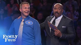 AMAZING FINISH!!! Joe scoops $20,000 with his LAST ANSWER! | Family Feud