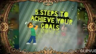 5 steps to achieve your goals Riyaa Green Tamil motivation
