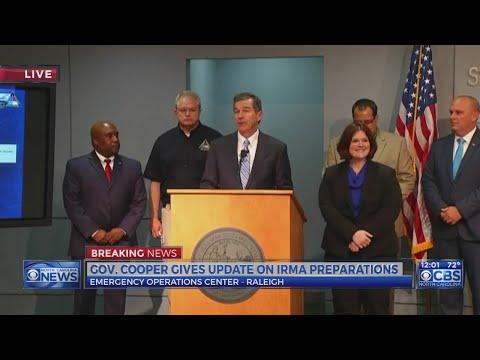 Gov. Roy Cooper speaks about Hurricane Irma