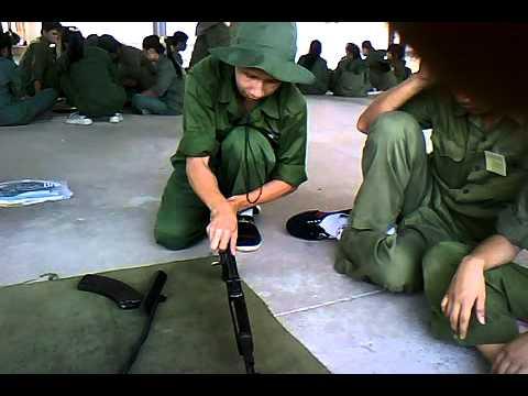 Tháo lắp súng tiểu liên AK DH11TM