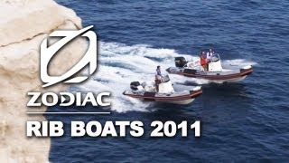 Zodiac Rigid Inflatable Boats (RIB) boats ranges 2011 : Pro Open, Medline, Cadet Fastroller