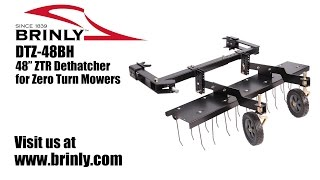 how to assemble the brinly dtz 48bh 48 ztr dethatcher for zero turn mowers