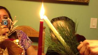 FUNNY TODDLER TRYING TO BLOW OUT CANDLES Pt. 2|Christmas Dinner