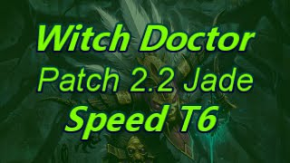 Witch Doctor Patch 2.2 Jade Harvester In Geom T6 Speed Build(2-3 Min Rifts) Diablo 3 Reaper of Souls