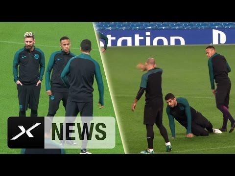Luis Suarez vs. Neymar! Zickenzoff im Barca-Training | FC Barcelona