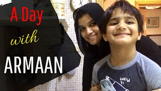 A Day with Armaan / Banana Crepes / Maggi Chicken Kabsa mix recipe / a day in my life