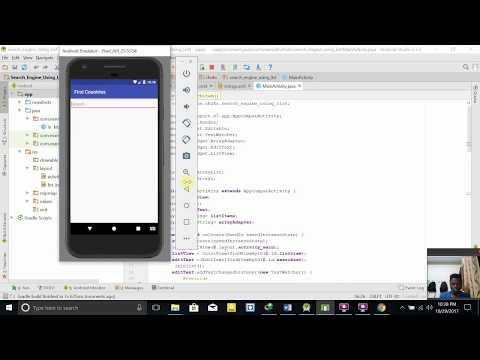 Mobile App Development Lab Ex 4: Search Engine using List Feature