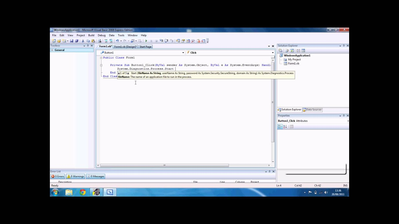 Vb Net System Diagnostics Process Start Waitforexit « Binary