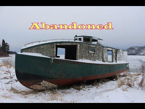 Abandoned Fishing Boats Tugs Thunder Bay Lake Superior