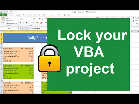 Weekend Special 2 - Lock vba project from viewing (Project is unviewable) -  advanced excel tutorial