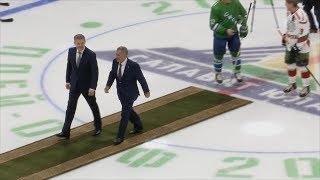 UTV.  В Уфе легенды башкирского и татарского хоккея провели товарищеский матч