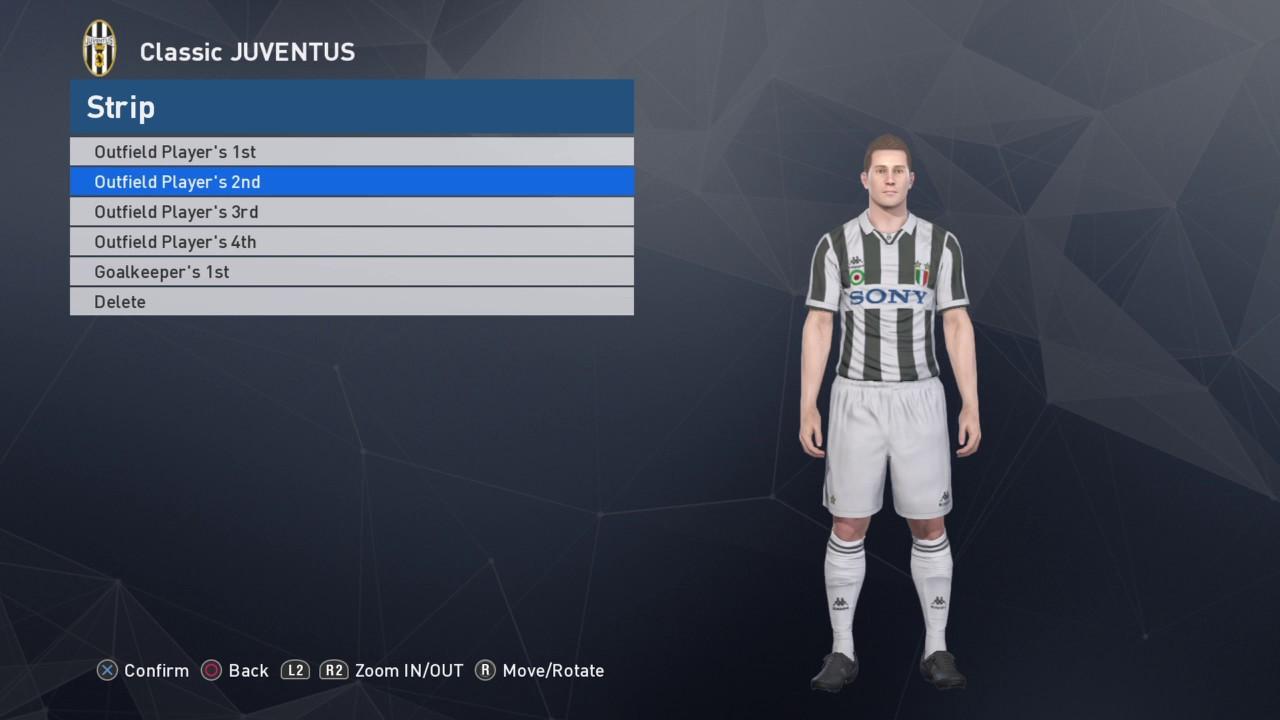 722de83bf Pro Evolution Soccer 2017 PS4 Classic Juventus Kits - YouTube