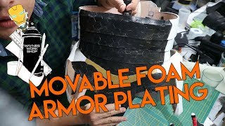 Movable foam armor plating