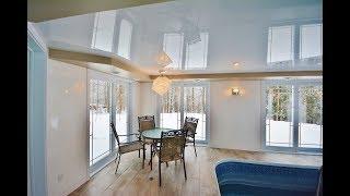 видео Двухуровневые, глянцевые, матовые и зеркальные натяжные потолки