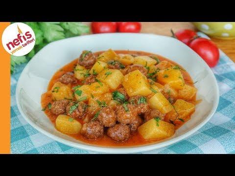 ASLA DAĞILMAYAN! Patatesli Sulu Köfte Yemeği Tarifi