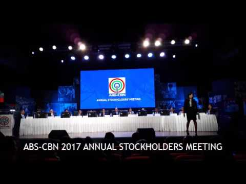 AUDIO : ABS-CBN 2017 Annual Stockholders Meeting