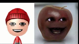 "3ds ""Annoying Orange"" Mii Characters and QR Codes"
