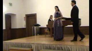 """Michele Rödel-Sopran und Michael Zumpe-Bariton im Duett,,Reich mir die Hand mein Leben"""""""