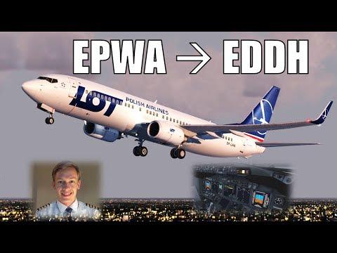 ✈️👨✈️ VATSIM FULL FLIGHT LIVE! Warsaw to Hamburg! [P3D V4] [PMDG 737NGX]