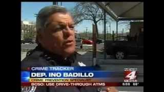 Deputy Ino Badillo offers safety advice when using ATMs