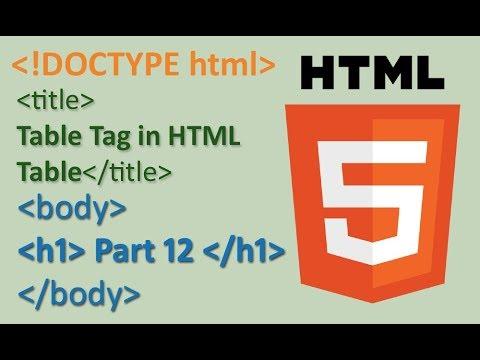 Part 12 HTML Table Tag || HTML 5 Tutorials in hindi || Tables thumbnail
