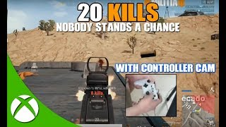 20 KILLS w/ CONTROLLER CAM! UNSTOPPABLE ON MIRMAR PUBG XBOX | PLAYERUNKNOWN'S BATTLEGROUNDS
