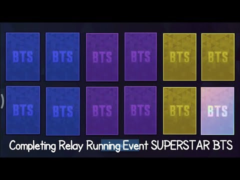 Completing Relay Running Event SUPERSTAR BTS