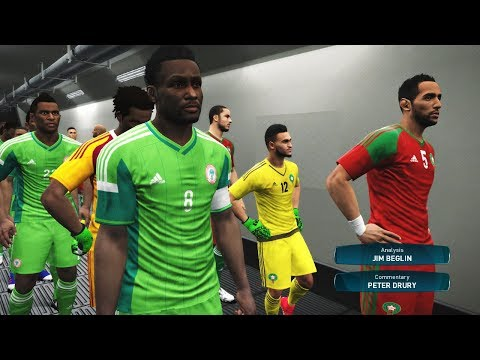 Morocco vs Nigeria Full Match | FINAL CUP AFRICA | PES Gamep
