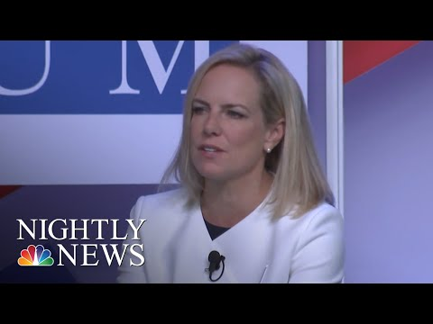Kirstjen Nielsen Won't Say 2016 Election Interference Favored President Trump | NBC Nightly News