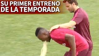 بالفيديو .. نجم #غانا يتقيأ في تدريبه الأول مع #أتلتيكو_مدريد